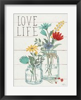 Framed Blooming Thoughts X Wall Hanging
