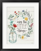 Framed Blooming Thoughts II Wall Hanging