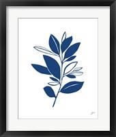 Framed Bay Leaves Blue II