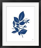 Framed Bay Leaves Blue I