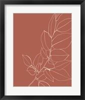 Framed Warm Magnolia Branch II
