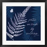 Dark True Blue III Framed Print