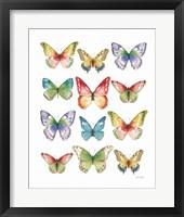 Framed Colorful Breeze Butterflies