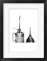 Oil Cans Framed Print