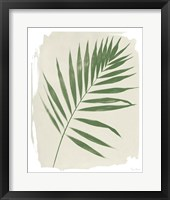 Nature By the Lake Frond II Cream Framed Print