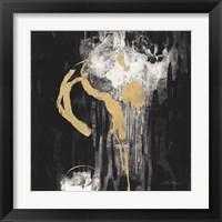 Golden Rain I BW Framed Print