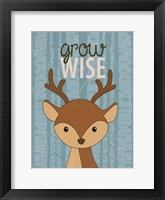 Grow Wise Framed Print