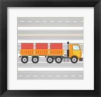 On the Road 4 Framed Print