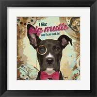 Framed Pet Sentiment II-Big Mutts