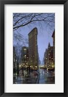Framed Flatiron Rain