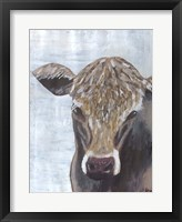 Framed Brown Cow