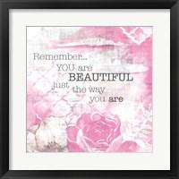 Framed Textured Sentiment Pink I