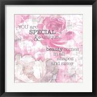 Framed Textured Sentiment Pink II