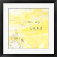 Framed Textured Sentiment Yellow I