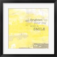 Framed Textured Sentiment Yellow II