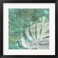 Textured Sentiment Tropic I Framed Print