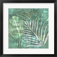 Textured Sentiment Tropic II Framed Print