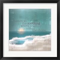 Framed Textured Sentiment Beach I