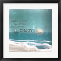 Framed Textured Sentiment Beach II