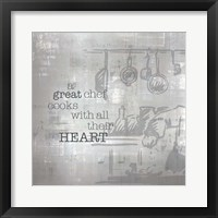 Framed Textured Sentiment Kitchen I