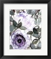 Framed Farmhouse Bush Purple I