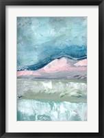 Blush Pink Mountainscape I Framed Print