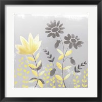 Soft Nature Yellow & Grey I Framed Print