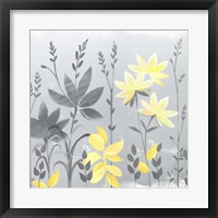 Soft Nature Yellow & Grey II Framed Print