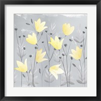 Soft Nature Yellow & Grey III Framed Print