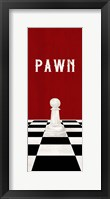 Framed Rather be Playing Chess Pieces Red Panel I-Pawn