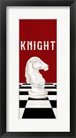 Framed Rather be Playing Chess Pieces Red Panel III-Knight