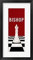 Framed Rather be Playing Chess Pieces Red Panel IV-Bishop