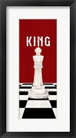 Framed Rather be Playing Chess Pieces Red Panel V-King