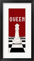Framed Rather be Playing Chess Pieces Red Panel VI-Queen