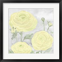 Peaceful Repose Gray & Yellow I Framed Print