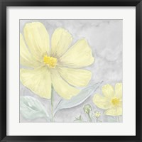 Peaceful Repose Gray & Yellow III Framed Print
