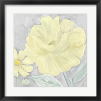 Peaceful Repose Gray & Yellow IV Framed Print