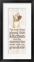 Framed Grandparent Life Vertical II-Memories