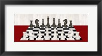 Framed Rather be Playing Chess Board Panel Red