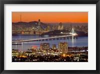 Framed Bay Bridge from Berkeley