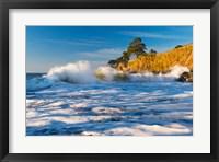 Framed Capitola Cliffs & Waves