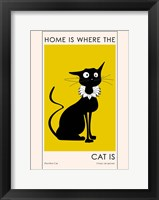 Framed Home Is where The Cat Is