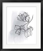 Botanique en Gris 1 Framed Print