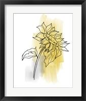 Botanique en Gris 2 Framed Print