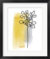 Botanique en Gris 3 Framed Print
