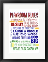Framed Playroom Rules