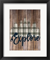 Explore Woods 2 Framed Print
