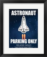 Astronaut Parking Framed Print