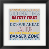 Build Great Things 2 Framed Print