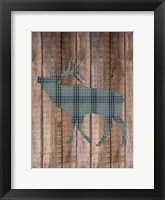 Elk Woods Framed Print